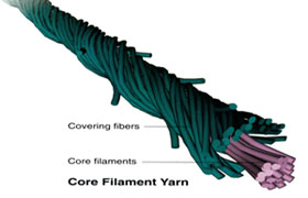Compact Core Spun Yarn